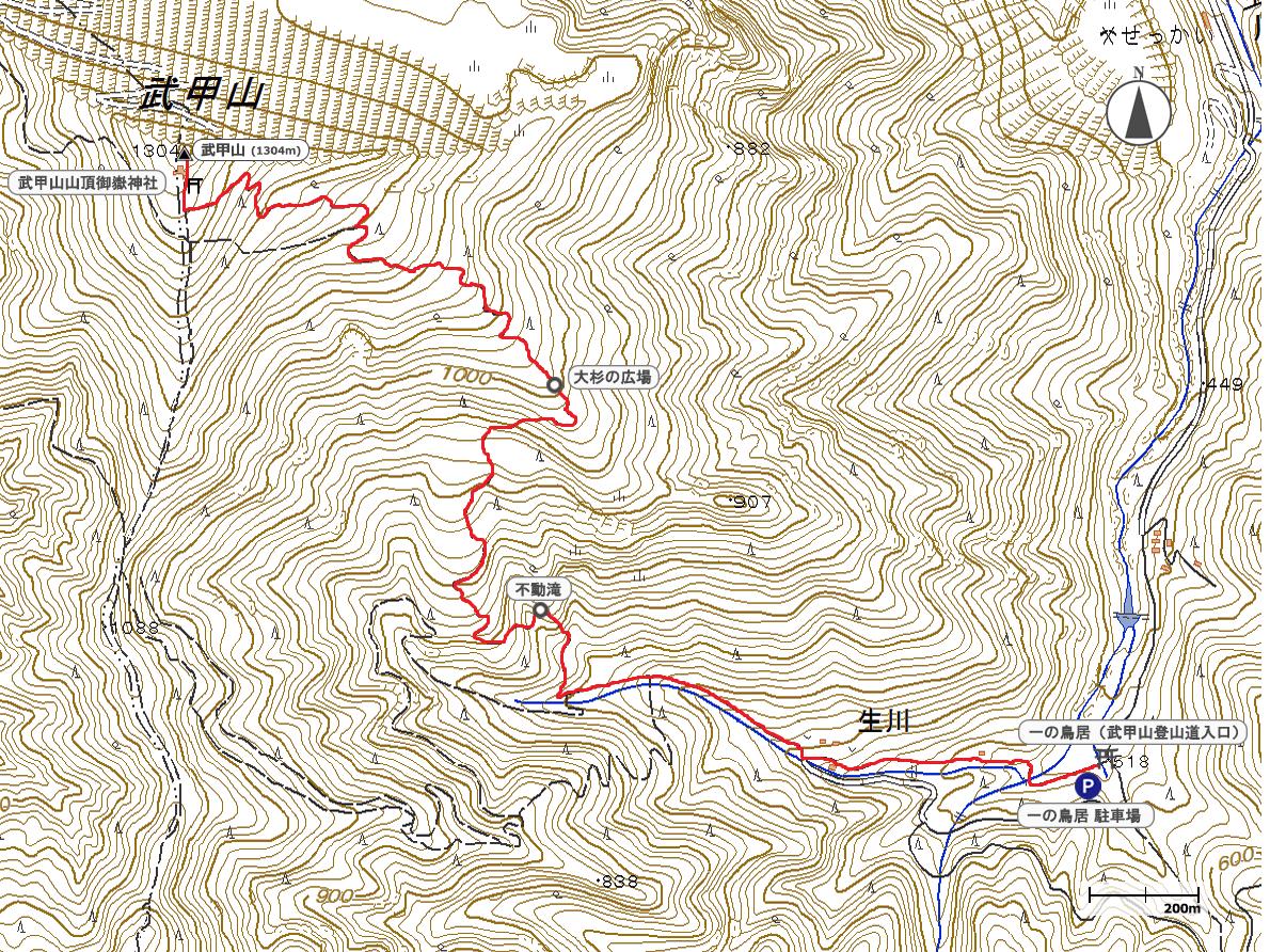 武甲山地図