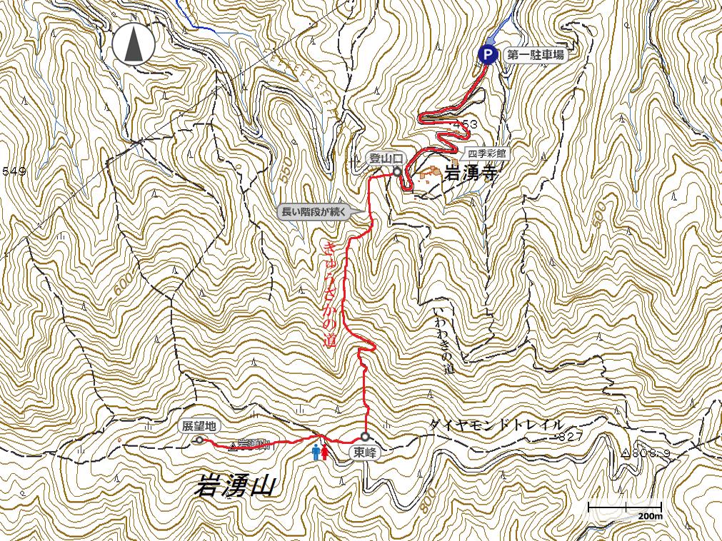 岩湧山地図