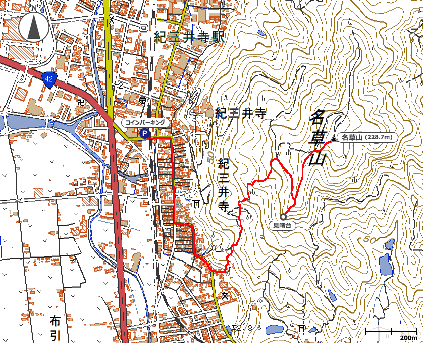 名草山地図