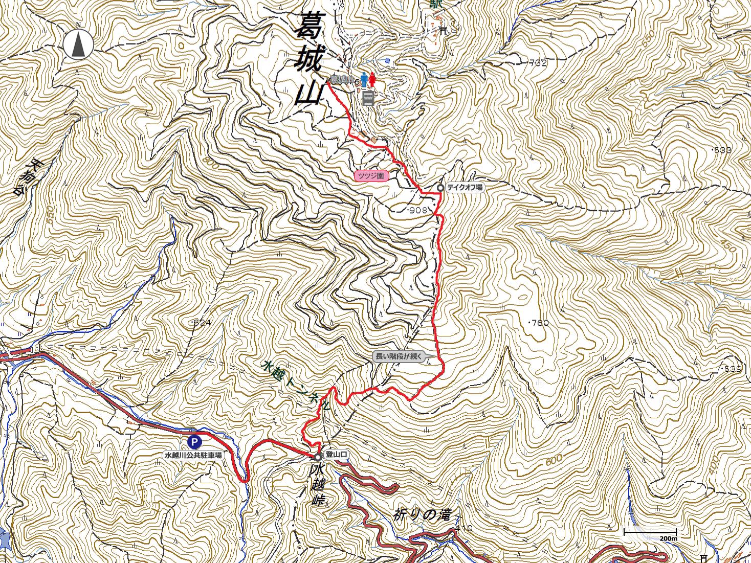 大和葛城山地図